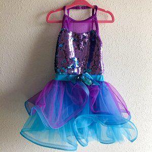 Weissman Purple and Blue Sequin Dance Costume SC